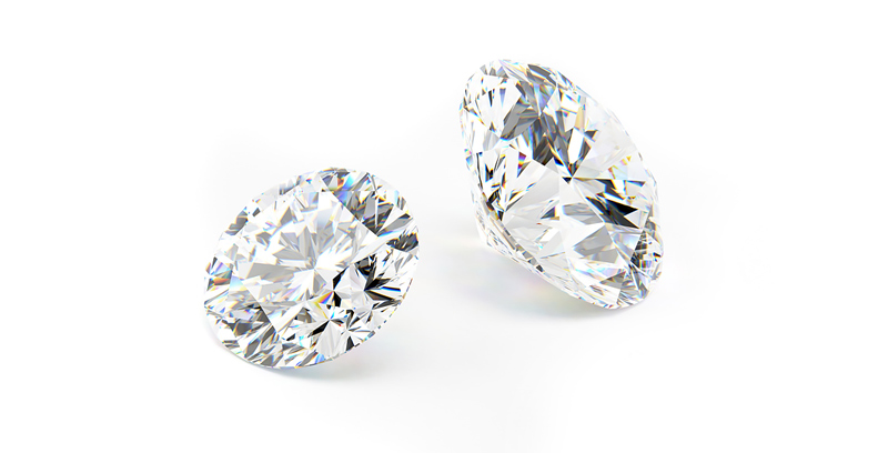 3d rendered illustration of some diamonds