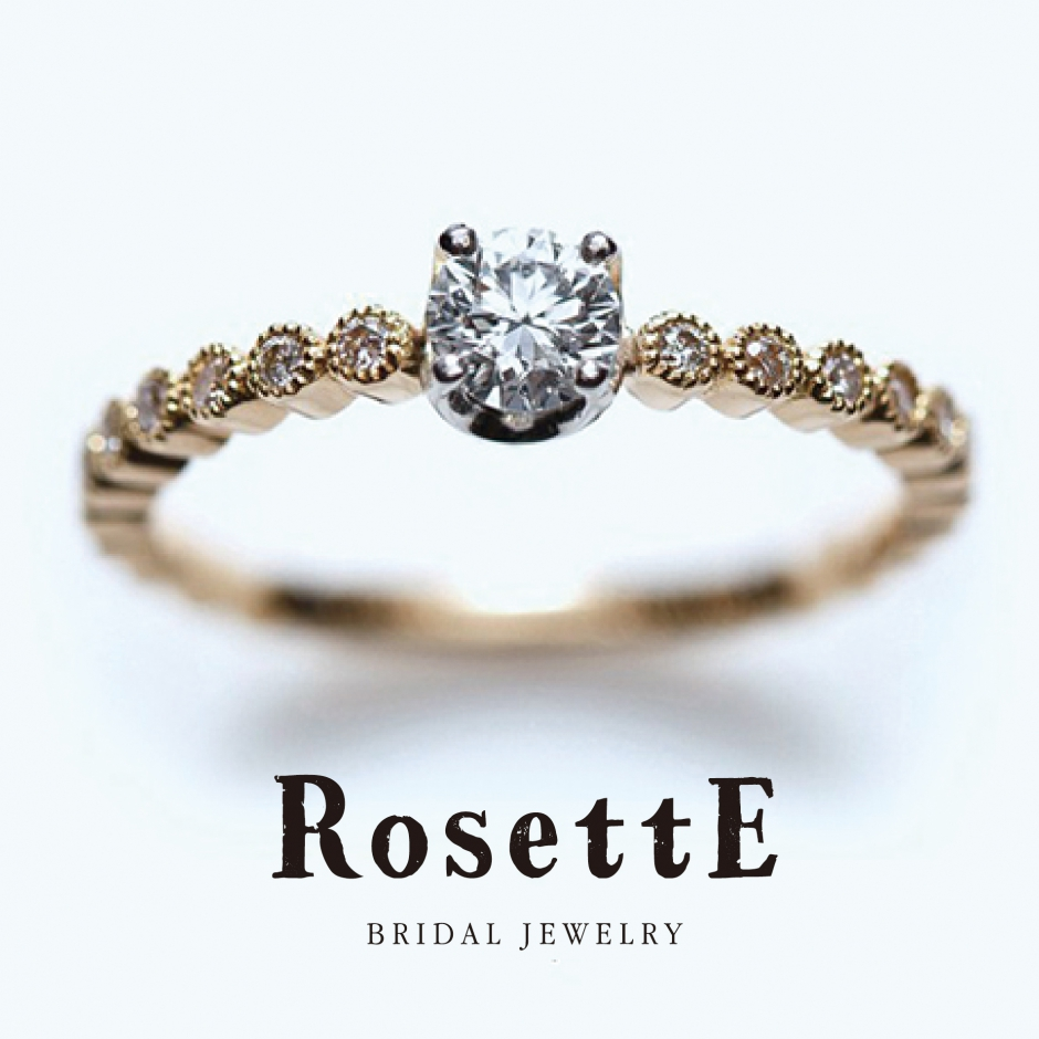 Rosetteロゼットの婚約指輪でしずく