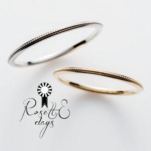 RosettEdaysロゼットデイズの結婚指輪でローズマリー
